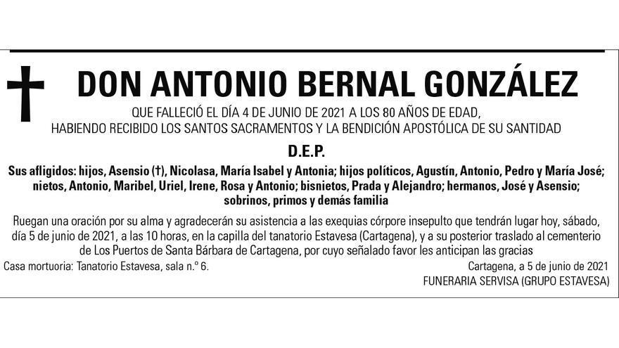 D. Antonio Bernal González