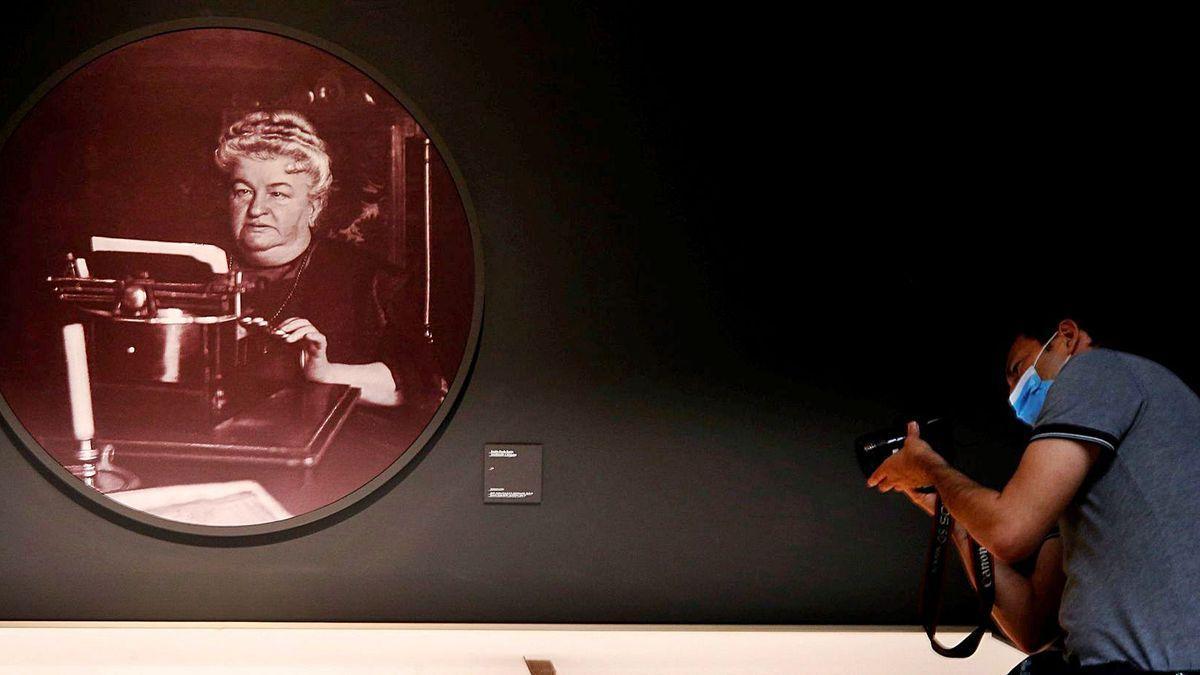 Inauguración de la exposición este lunes en Madrid.