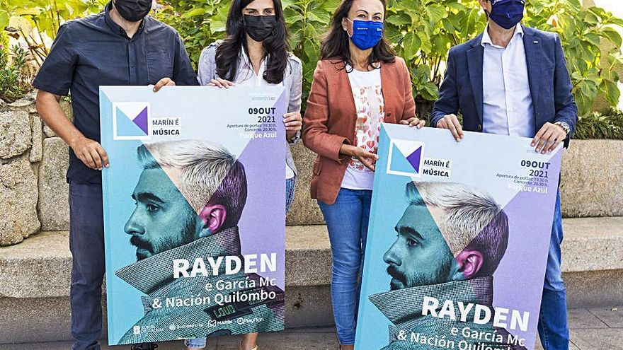 El rapero Rayden ofrecerá en Marín, el 9 de octubre, su único concierto este año en Galicia
