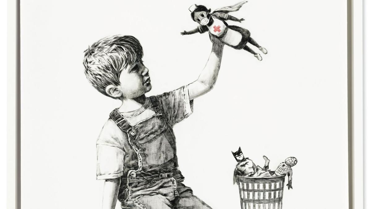 La obra de Banksy en homenaje a los sanitarios que luchan contra la pandemia