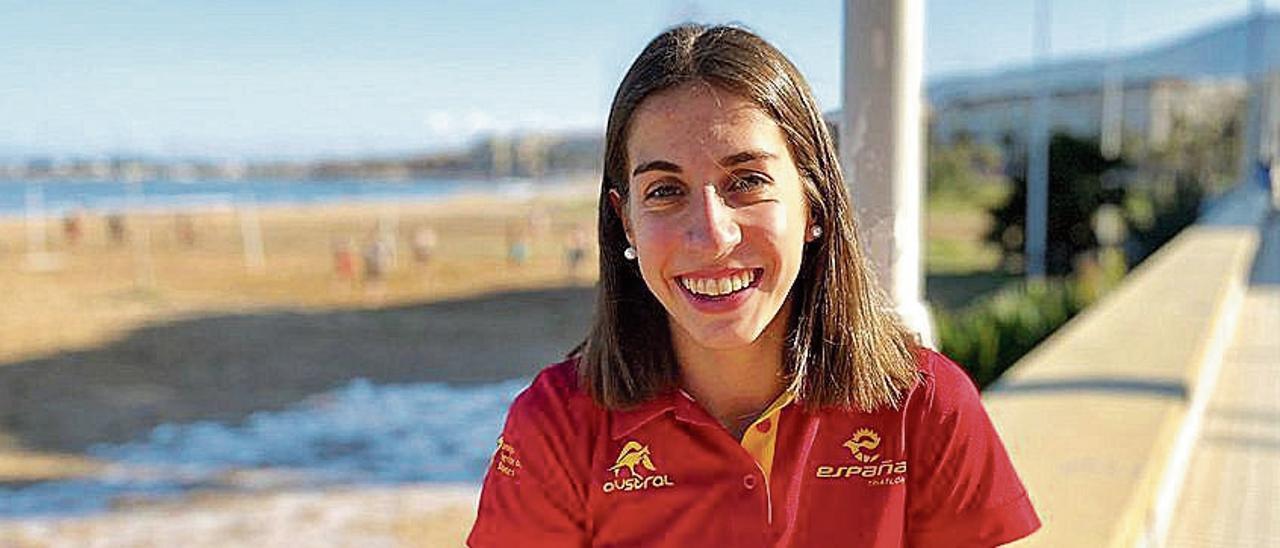 Natalia Castro, en Melilla antes del campeonato.