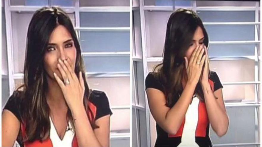 Sara Carbonero se atraganta en directo y no despide el informativo
