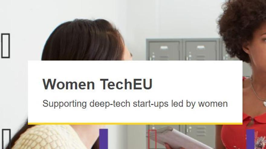 Convocatoria del programa Women TechEu lanzada por la Comisión Europea para el apoyo a emprendedoras dedicadas a la tecnología profunda (Deep Tech)