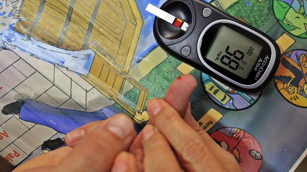 Medición de los niveles de azúcar en sangre, en una imagen de archivo. | LEVANTE-EMV