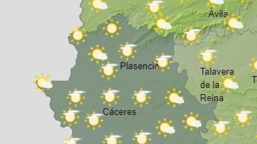 Extremadura alcanza hoy temperaturas de hasta 29 grados