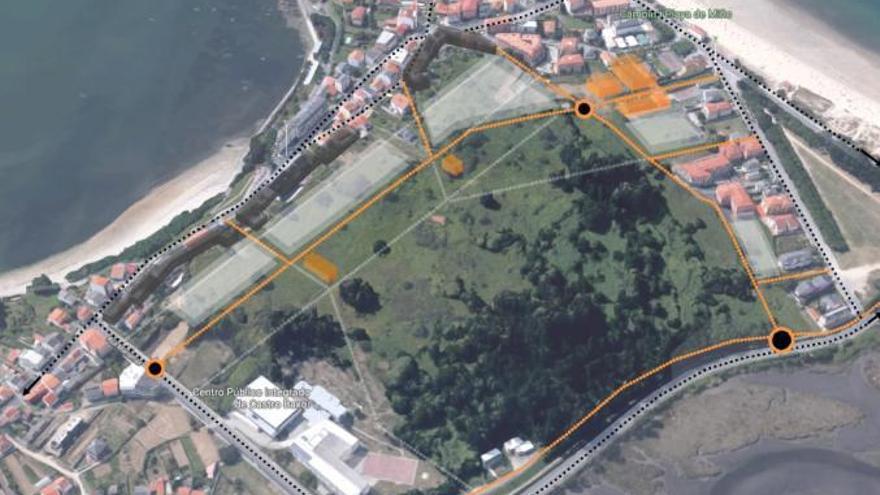 Miño reduce a la mitad la edificabilidad en Monte Piñeiro y prevé un gran parque central