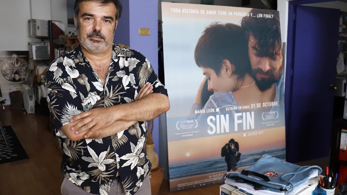 José Antonio Hergueta, esta semana en la oficina de su productora, en El Palo.