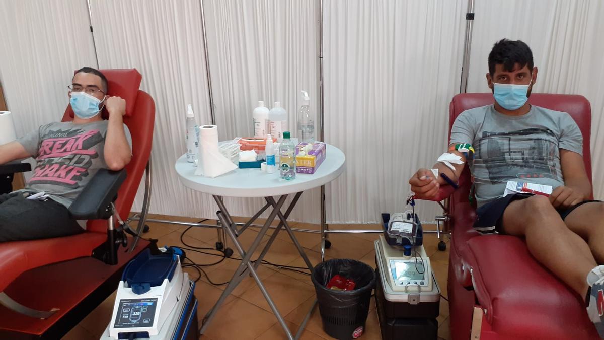 Donantes de sangre en Gran Canaria.