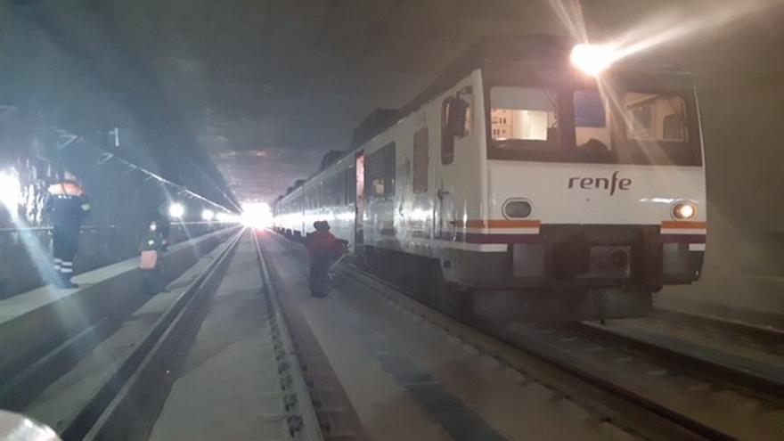 Simulacro de emergencia en el túnel de acceso a Murcia