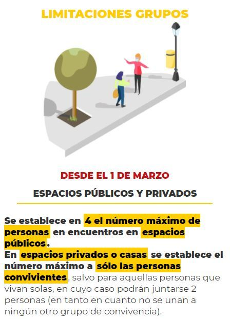 Reuniones en València: Se mantiene el máximo de cuatro personas