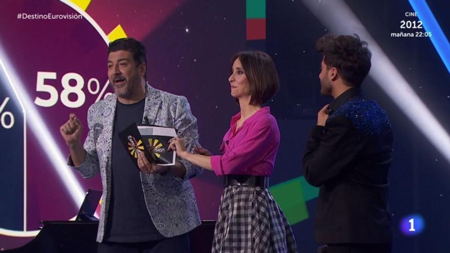 TVE la lía con los rótulos de 'Destino Eurovisión': se equivoca con los números para votar por las dos canciones