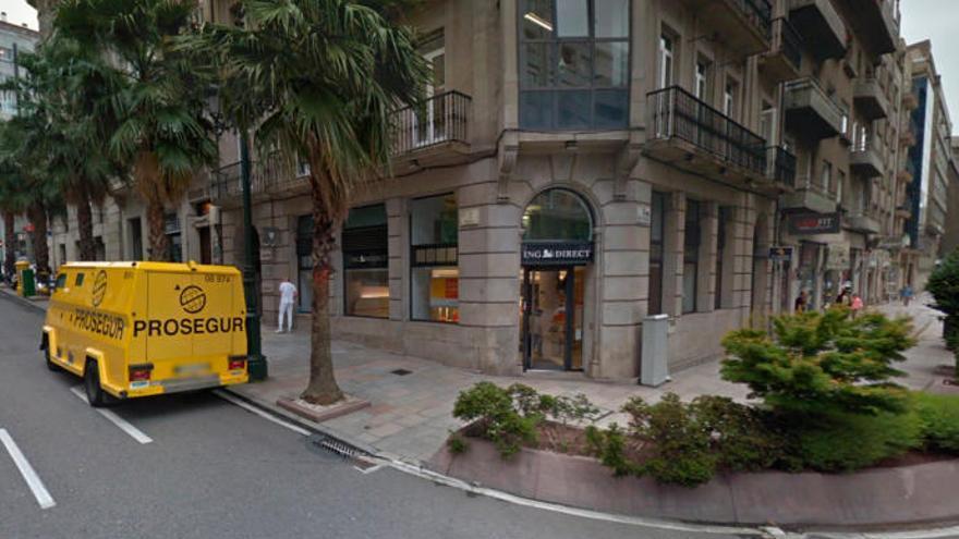 Detenido en Vigo al intentar llevarse 250.000 euros de un furgón blindado