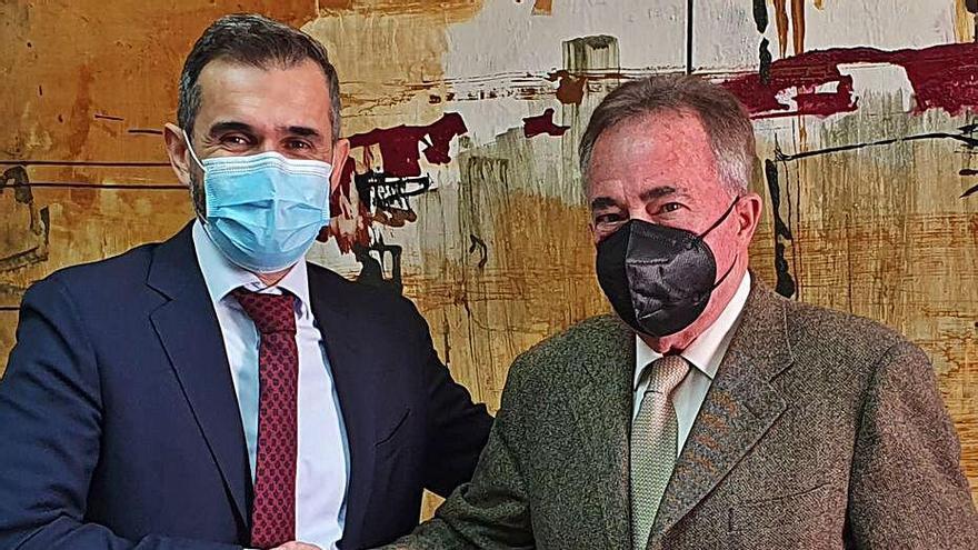 Cayetano Sánchez Butrón y Juan Riera, este miércoles.