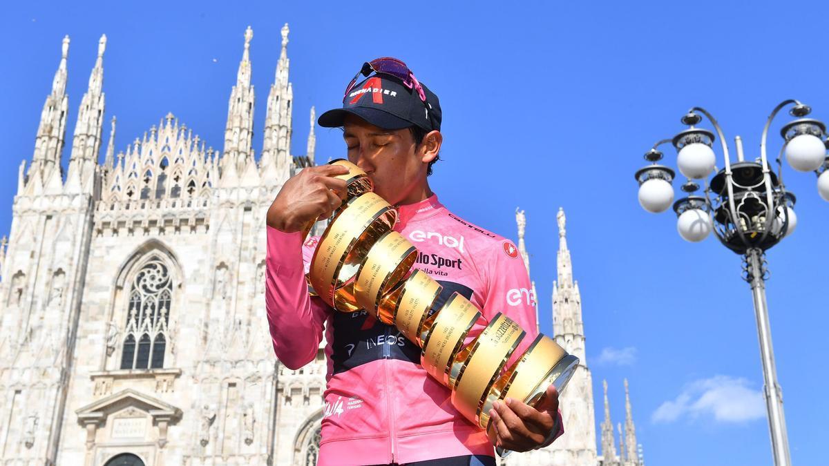El ciclista colombiano, Egan Bernal.