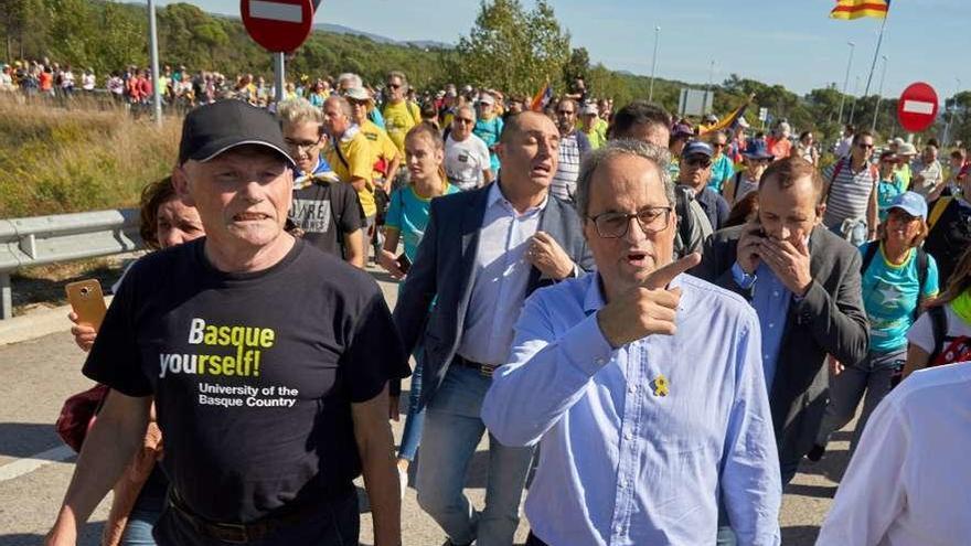 """Cinco """"marchas por la libertad"""" confluirán mañana en Barcelona"""