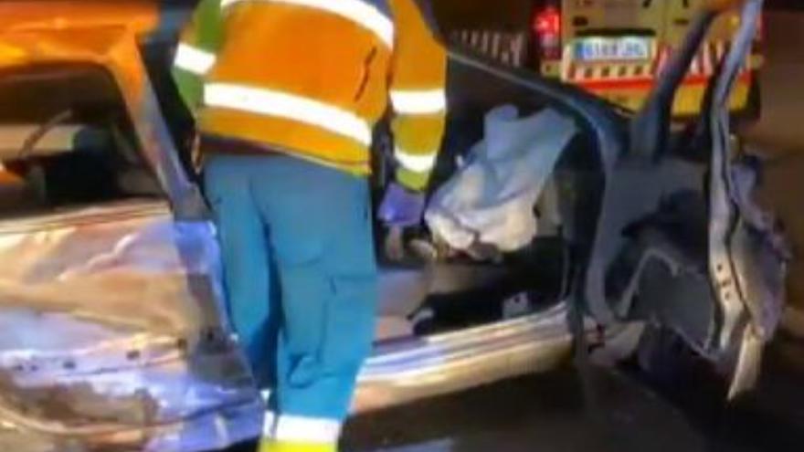 Un muerto y tres heridos en un aparatoso accidente