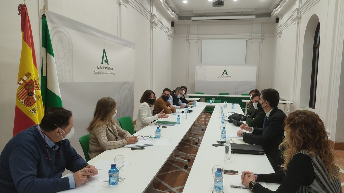Imagen de la primera reunión de la mesa técnica de Los Asperones