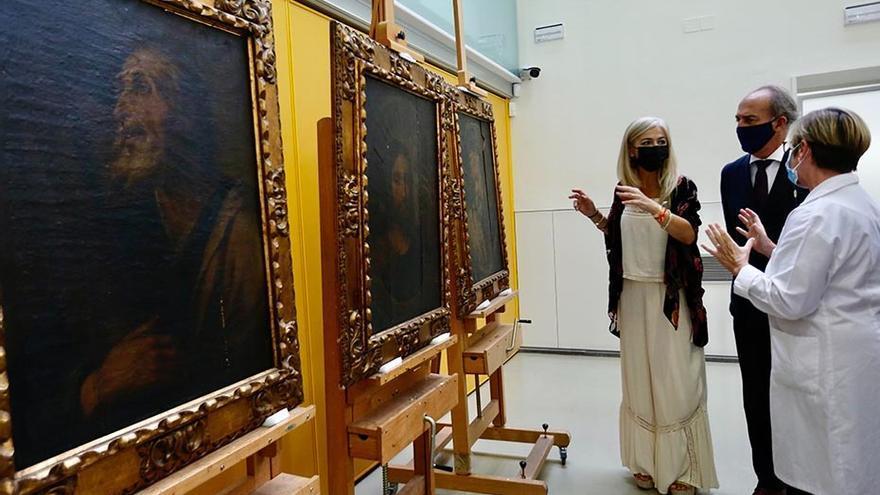 Cultura inicia la restauración de tres pinturas del siglo XVII de la Universidad Loyola
