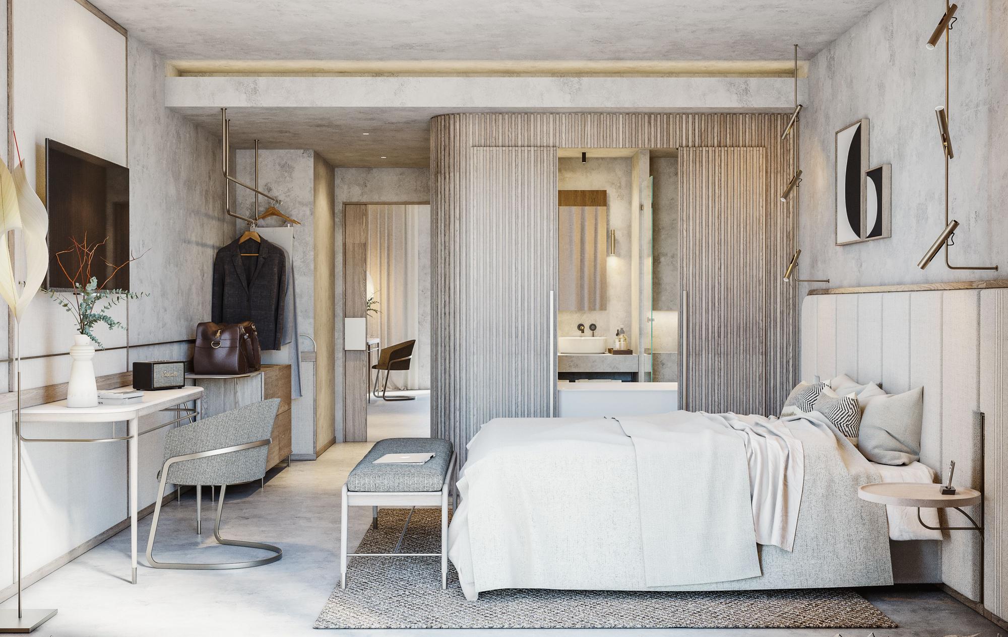 Así será el hotel Only You Málaga, ubicado en la torre de La Equitativa