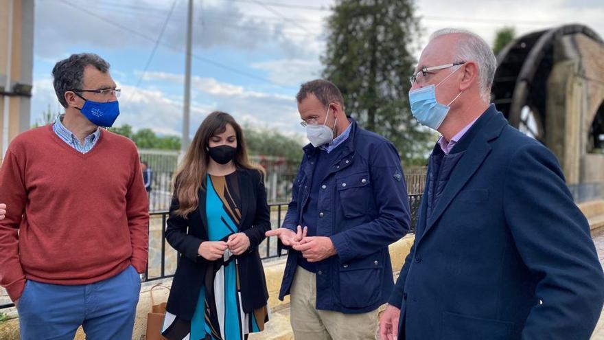 El PP visita la Rueda de La Ñora para reivindicar el proyecto que impulsaron