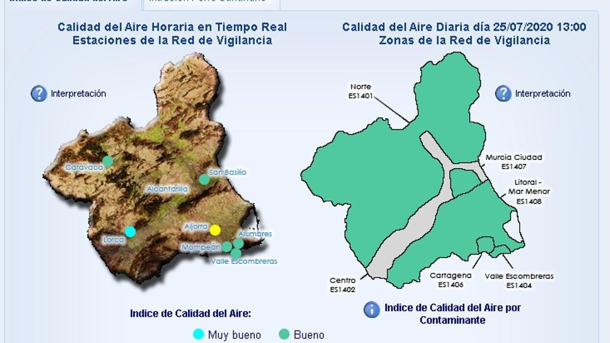 Activado el nivel 1 de contaminación en Cartagena