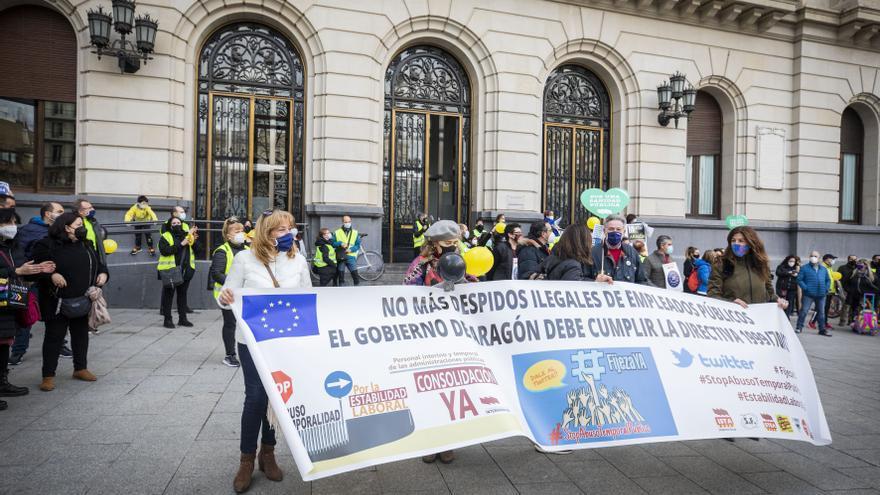 38.000 interinos aragoneses están llamados a la huelga este viernes