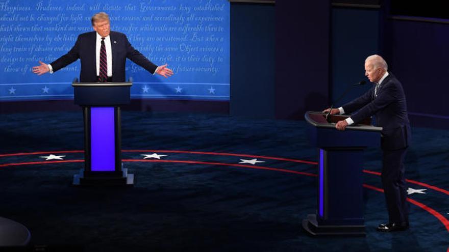 Cara a cara con pocas propuestas y ataques constantes entre Trump y Biden