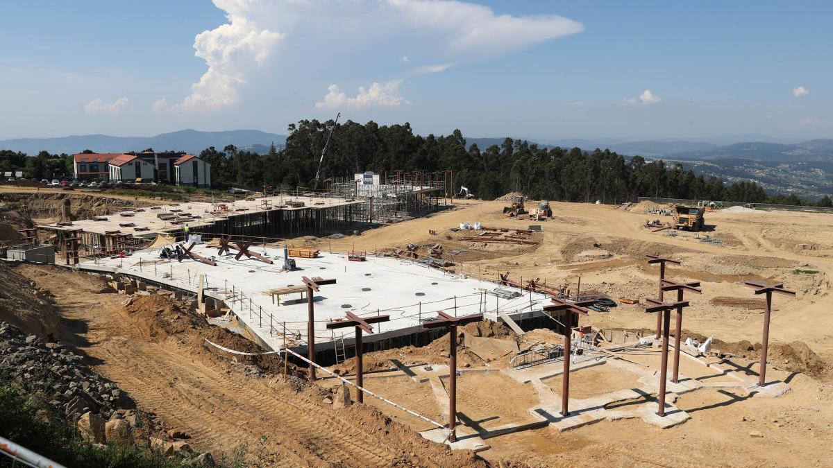 Estado de la construcción de la Ciudad Deportiva del Celta en Mos. // Ricardo Grobas