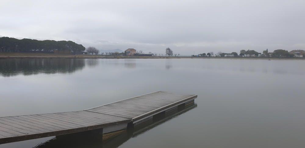 El parc de l'Agulla sota la pluja