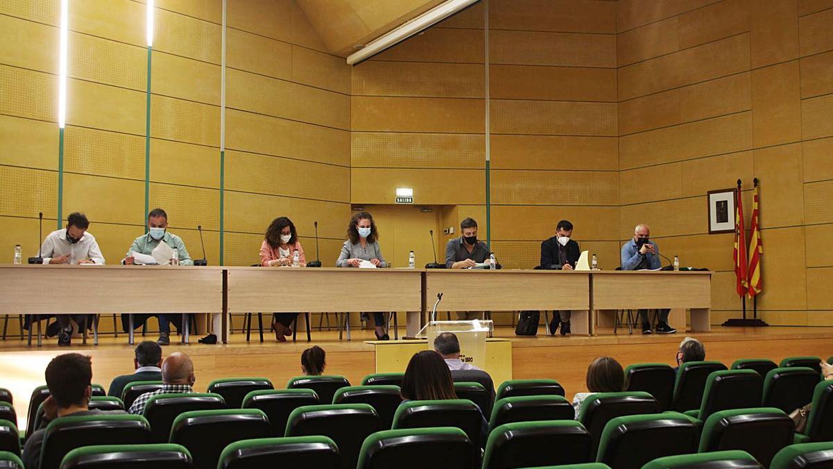 Reunión del último Consejo Comarcal de la Ribera Alta del Ebro.   LUIS A. RUIZ