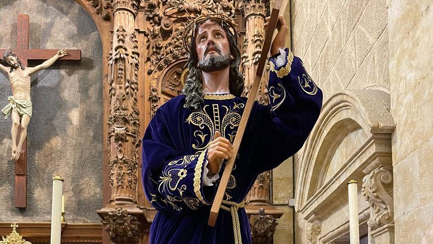Los pasos de Semana Santa, expuestos en la iglesia de Moraleja del Vino