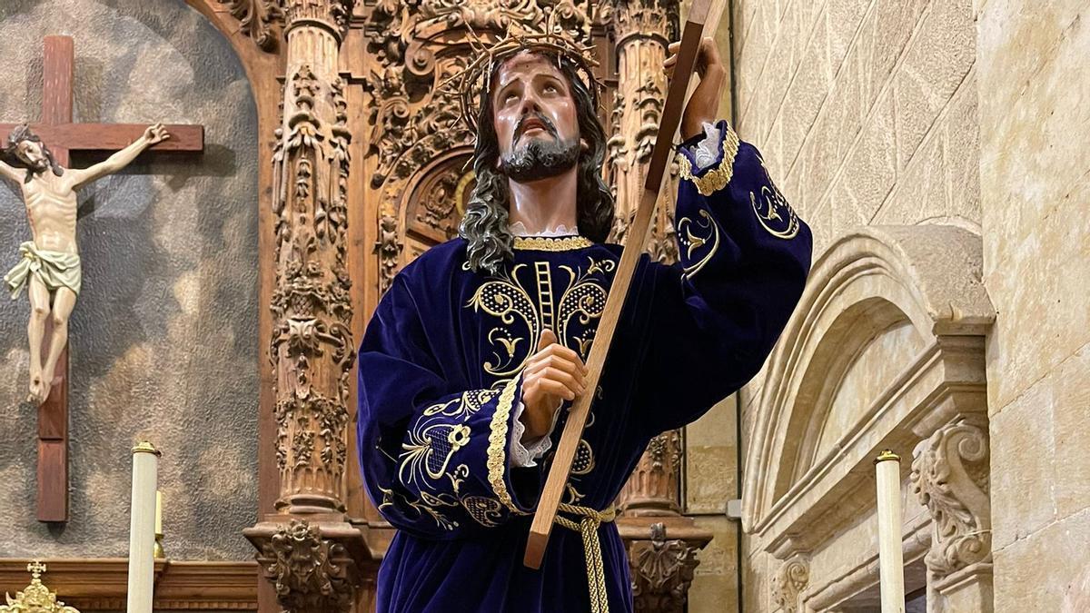 La imagen del Nazareno, expuesto en la parroquia de Moraleja del Vino