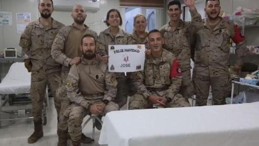 Las tropas de la Guzmán el Bueno felicitan la Navidad desde Irak