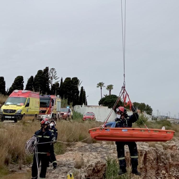 Imagen del rescate realizado por los equipos de emergencias.