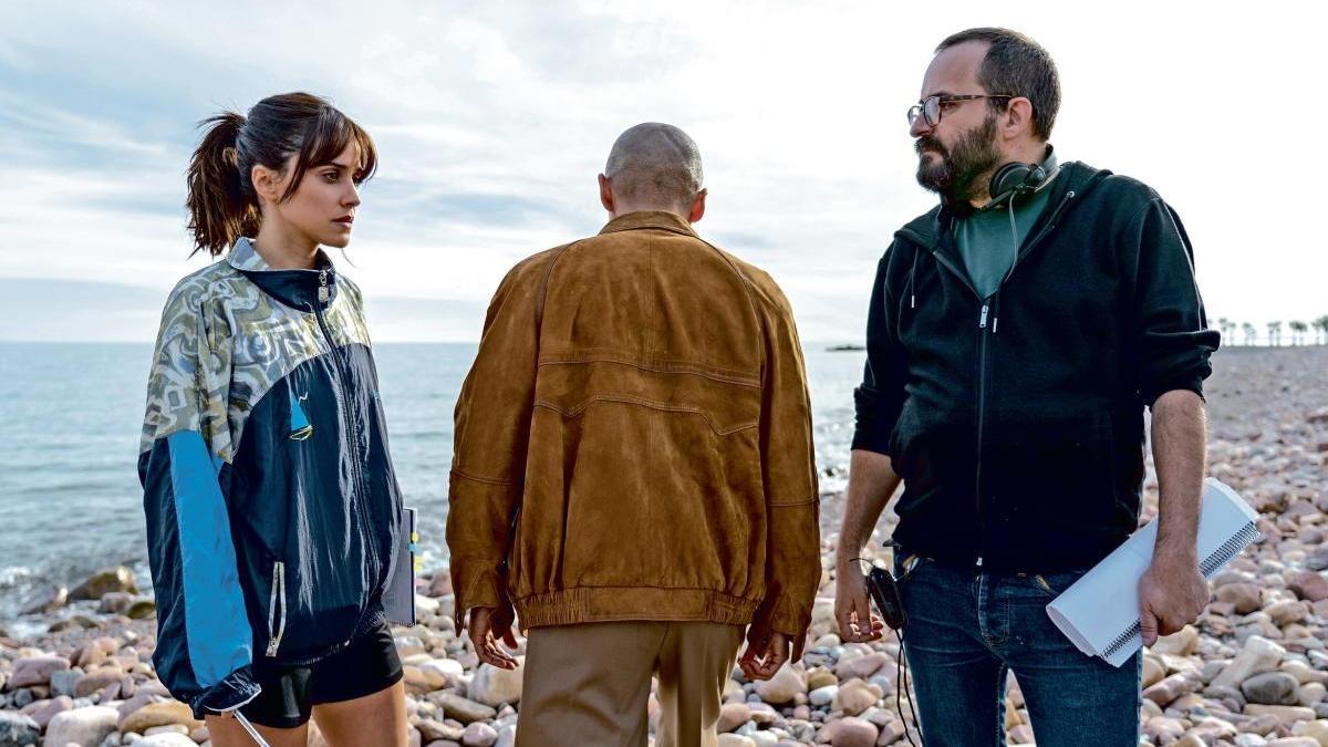 Macarena García, durante el rodaje de 'Paraíso'.