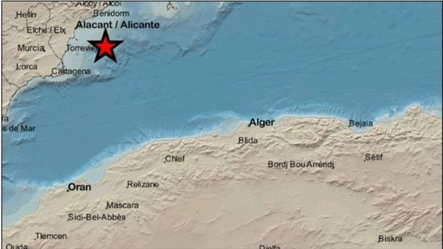 Un terremoto de 2,4 grados hace temblar Cabo de Palos