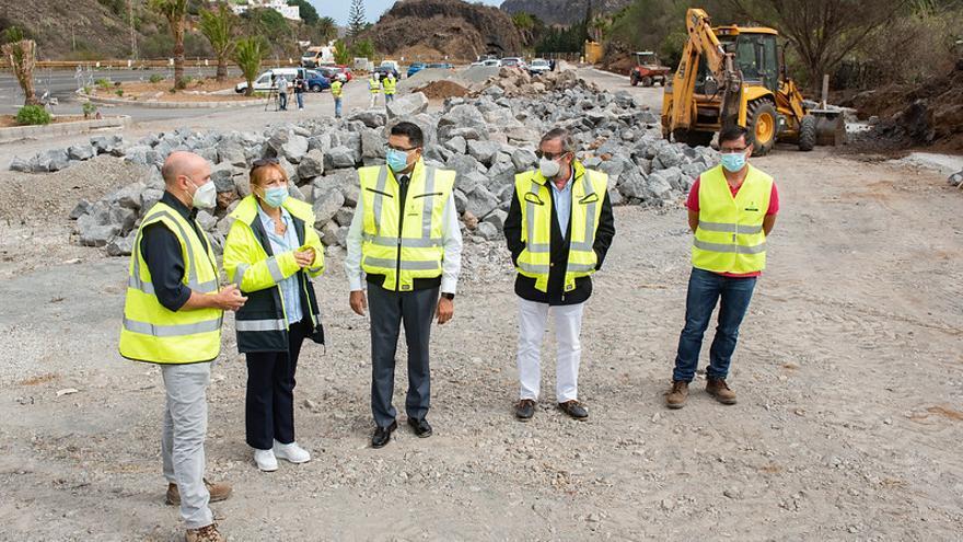 El nuevo aparcamiento del Jardín Canario estará acabado antes de fin de año