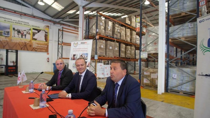 Formalizado el acuerdo para trasladar las naves de Cruz Roja a La Esfinge