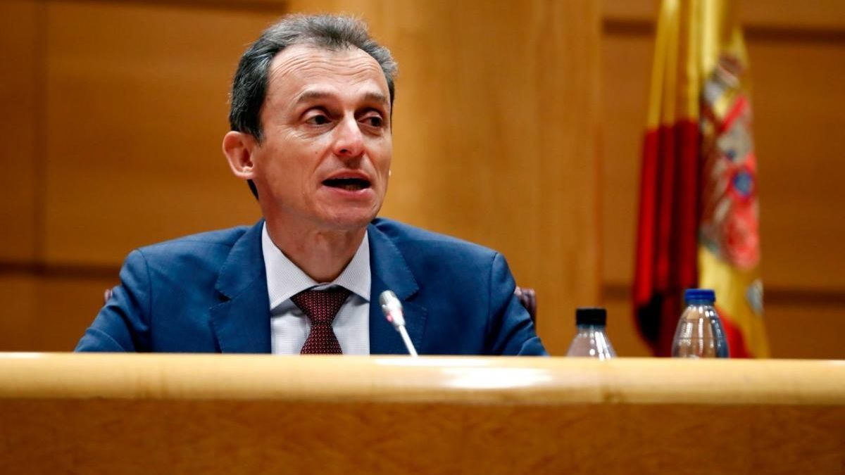 Pedro Duque durant la seva compareixença