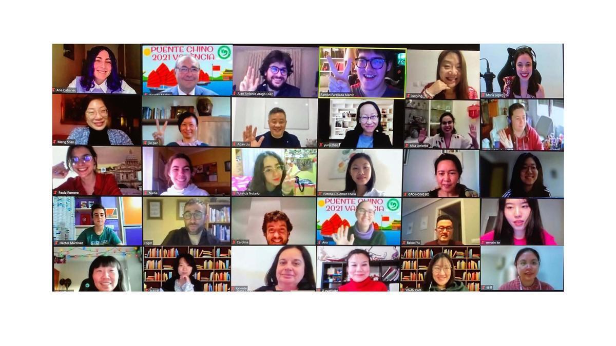 Participantes en el concurso Puente Chino 2021