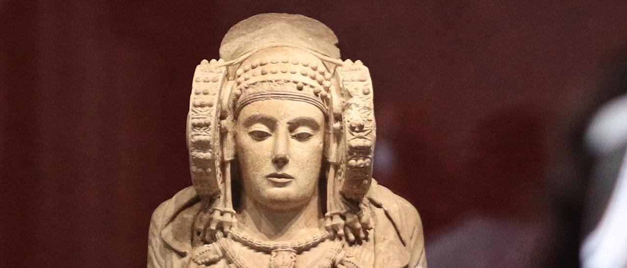 Dama de Elche en el Museo Arqueológico Nacional en Madrid