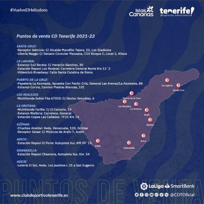 Red Insular de Venta de Entradas del CD Tenerife