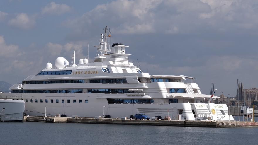 El yate Lady Moura, en venta por 200 millones de euros, regresa a Mallorca
