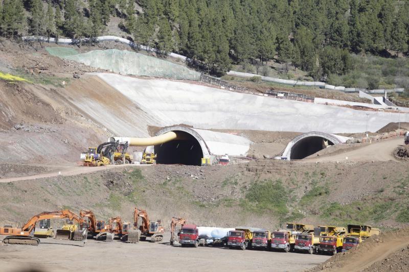 Construcción del túnel del anillo insular en Santiago del Teide