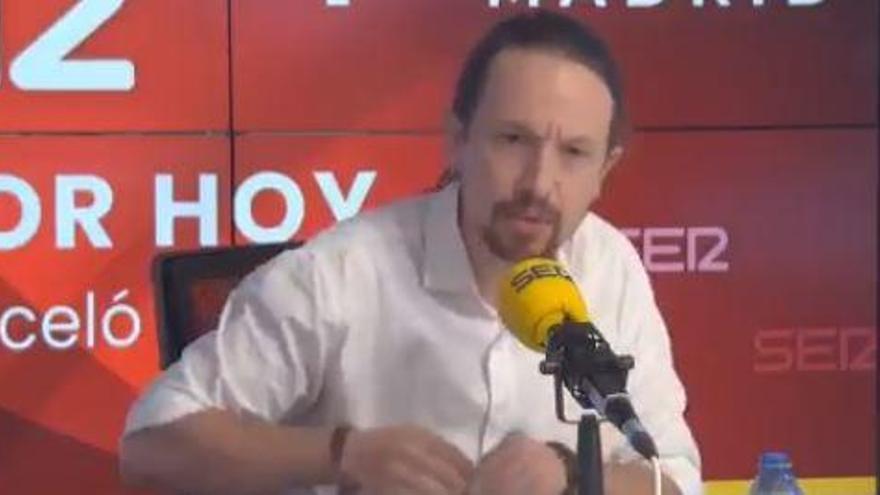Iglesias abandona en directe el debat de la Ser després que Vox no posi en dubte les amenaces de mort