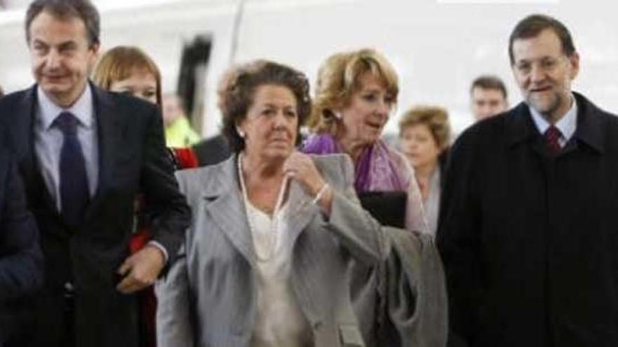 Foment convida per error Rita Barberà a l'arribada de l'AVE a Castelló