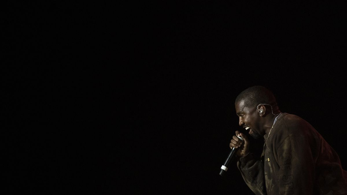 Kanye West en un concierto.