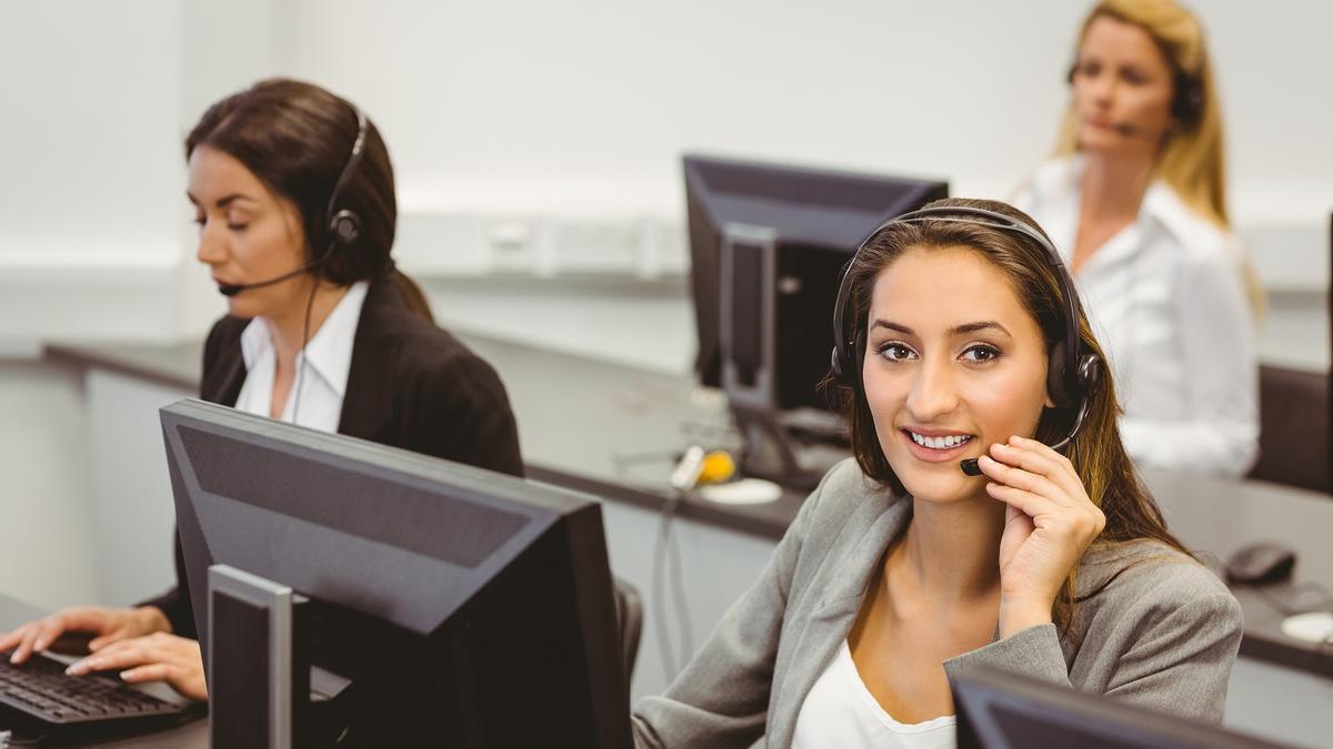 Agente de un call center, en una imagen de archivo.