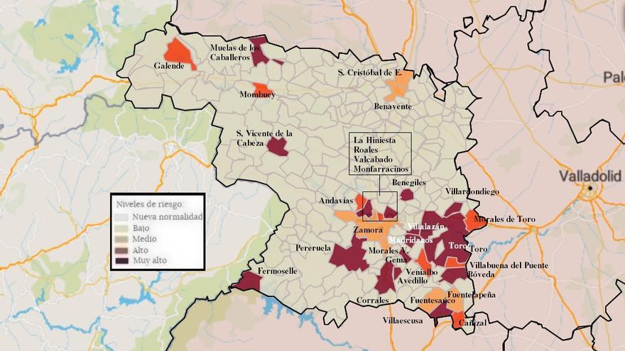Mapa de coronavirus de Zamora, hoy, martes | El virus entra en Venialbo y se retira de Valdescorriel y Palacios del Pan