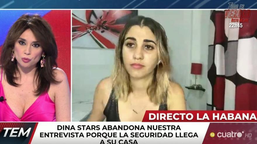 La policía cubana detiene en directo a la youtuber Dina Stars mientras la entrevistan en 'Todo es Mentira'